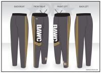 Broken Arrow Gray Warmup Pants
