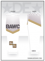 Broken Arrow White Sublimated Knee Sleeve
