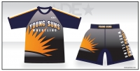 Young Suns Rash Guard and Fight Shorts