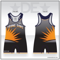 Young Suns Wrestling Black Singlet