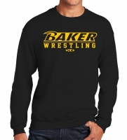 Baker Wrestling Black Crew Neck Sweatshirt