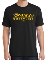 Baker Wrestling Black T-Shirt