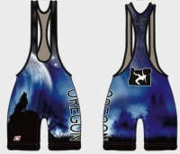 Damaged Ear Oregon Wolf Singlet