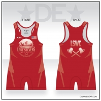 Lake Stevens Wrestling Club Red Singlet