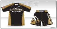Shahala Eagles Wrestling Rash Guard and Fight Shorts