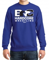 Hardcore Wrestling Crew Neck Sweatshirt - Royal