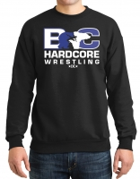 Hardcore Wrestling Crew Neck Sweatshirt - Black
