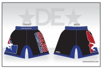 Idaho Black Red White and Blue Fight Shorts