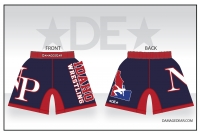 Idaho New Plymouth Navy Red and White Shorts