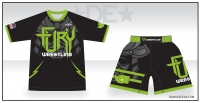 Fury Wrestling Rash Guard and Fight Shorts