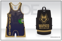 Wapato Wrestling Club Singlet and Bag