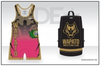 Wapato Wrestling Club Bag and Pink Singlet