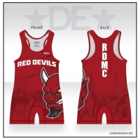 Red Devil Mat Club Flame Singlet