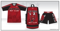 Red Devil Mat Club Rash Guard Triple Package