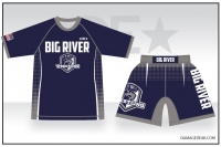 Big River Wrestling Rash Guard and Fight Shorts