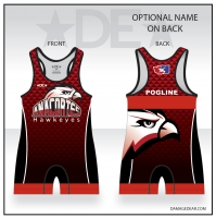 Anacortes Red Patterned Freestyle Singlet