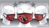 Lincoln Cardinals Face Mask
