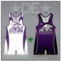 Anacortes Hawkeyes White/Alpha Double Singlet Pack