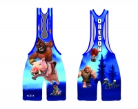 Blue 2015 Team Oregon Low Cut Singlet
