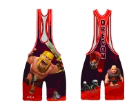 Red 2015 Team Oregon Low Cut Singlet