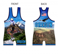 Women's Blue 2016 Team Oregon Singlet